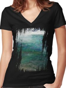 river wave Women's Fitted V-Neck T-Shirt