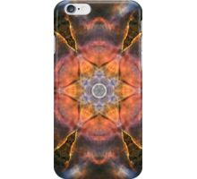 Burst cosmic design with fire and circles iPhone Case/Skin