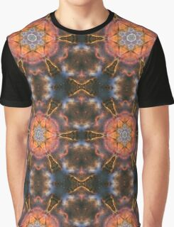 Burst cosmic design with fire and circles Graphic T-Shirt