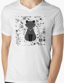 Kitten Fang Mens V-Neck T-Shirt