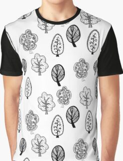 Cute black and white forest Graphic T-Shirt