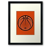 Vector Basketball Framed Print