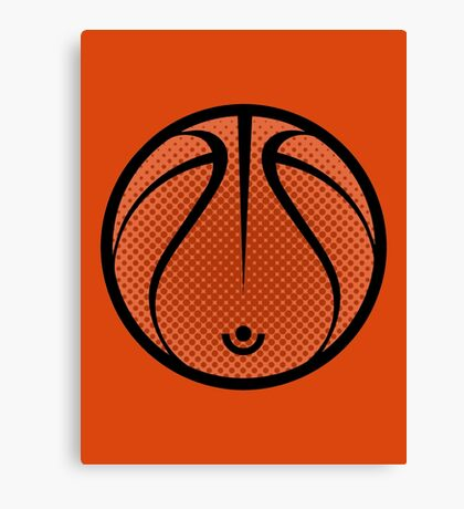 Vector Basketball Canvas Print