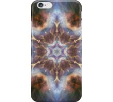 Space and heaven blue design with glitter and stars iPhone Case/Skin