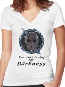You cant lock up the darkness - zoom Women's Fitted V-Neck T-Shirt