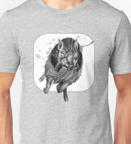 Charging Boar Unisex T-Shirt