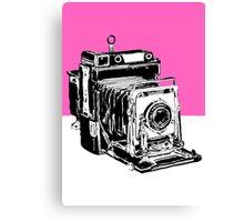 Vintage Graphex Camera in Hot Pink Canvas Print