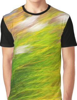 Fall Grass Colorful Nature Abstract Graphic T-Shirt