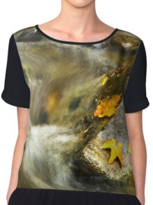 Autumn Creek Landscape Chiffon Top