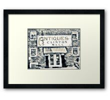 """Antiques... Clinton Mall, #4""... prints and products Framed Print"