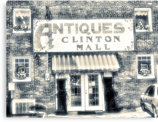"""""""Antiques... Clinton Mall, #4""""... prints and products by © Bob Hall"""