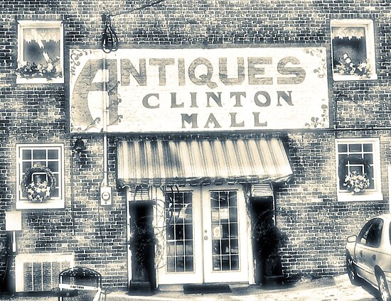 """Antiques... Clinton Mall, #4""... prints and products by © Bob Hall"