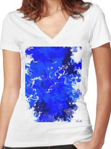 Liquid Ink Women's Fitted V-Neck T-Shirt