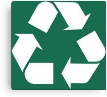 Recycle Go Green Canvas Print