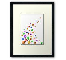Rainbow Dice Wave Framed Print