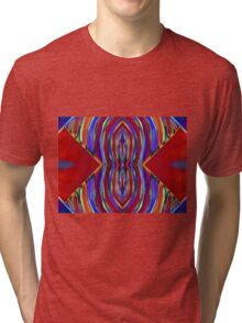 Psychedelic Red Flare Circles Tri-blend T-Shirt
