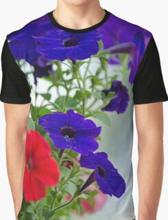 Classic Petunia Flowers Graphic T-Shirt
