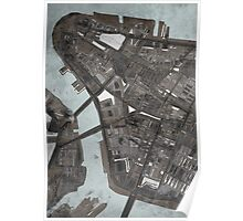 Abstract Map of Lower Manhattan Poster