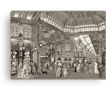 The Arcade (Monochrome) Canvas Print