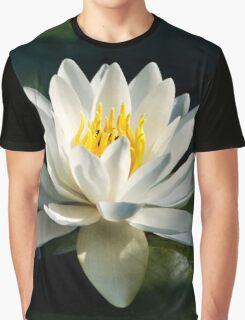 White Water Lily Flower Graphic T-Shirt