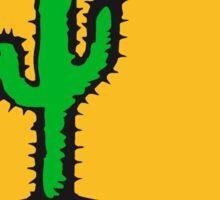 sun night moon cliff mountainside werewolf cactus sunset full moon desert canyon cactus Sticker