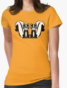TWO LITTLE STINKERS Womens Fitted T-Shirt