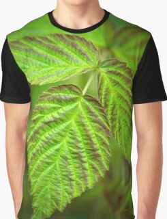 Fresh Green Leaf Abstract Graphic T-Shirt