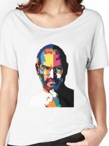 Steve Jobs | PolygonART Women's Relaxed Fit T-Shirt