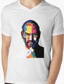 Steve Jobs | PolygonART Mens V-Neck T-Shirt