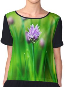 Purple Chive Chiffon Top