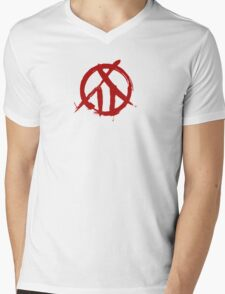 Kabaneri of the Iron Fortress Crest - Blood Red Mens V-Neck T-Shirt