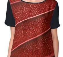 Nature in red Chiffon Top