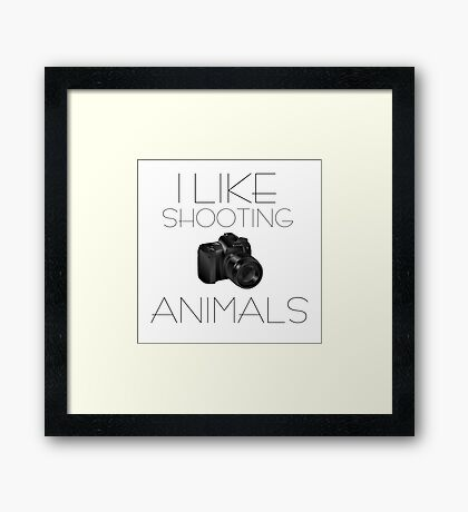 Photography Humour Nature Animals Wildlife Funny Framed Print