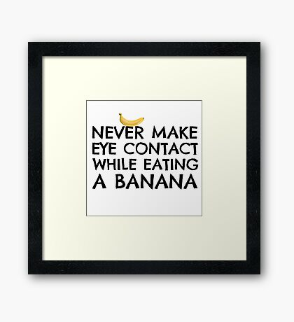 Funny Humour Dick Joke Banana Sex Framed Print