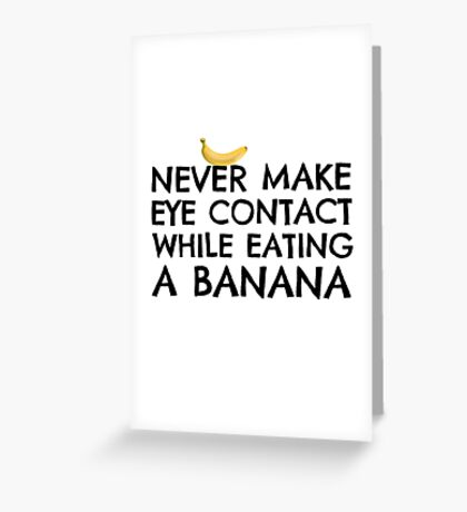 Funny Humour Dick Joke Banana Sex Greeting Card
