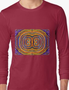 Psychedelic Double Circle Supreme Long Sleeve T-Shirt