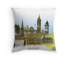 Historic Sheffield - UK, tony fernandes Throw Pillow