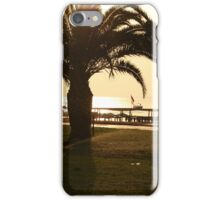 Palm trees and a walking path in a tropical garden  iPhone Case/Skin