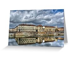 Turin Shrouded in Cloud  Greeting Card