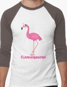 Flamingocorn Men's Baseball ¾ T-Shirt