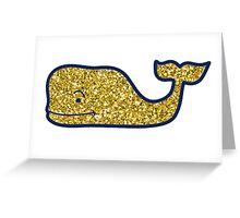 Glitter Vineyard Vines Logo Greeting Card