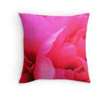 Crimson Peony Rose Throw Pillow