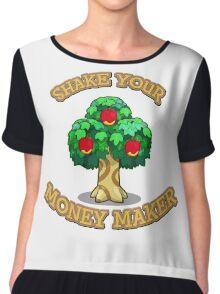 Shake Your Money Maker - Apples  Chiffon Top