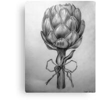 Artichoke, black and white pencil drawing Canvas Print