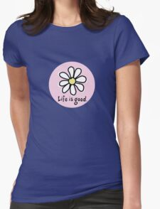 Life is Good Pink Womens T-Shirt