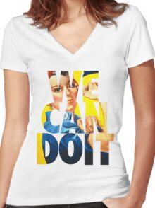 Rosie The Riveter Women's Fitted V-Neck T-Shirt