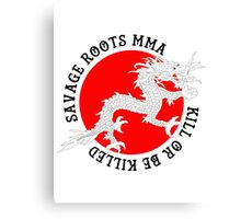 Savage Roots MMA Dragon BLK Canvas Print