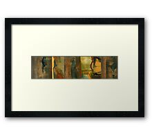 BESIDE THE LAKE, BENEATH THE TREES, FLUTTERING AND DANCING IN THE BREEZE—WORDSWORTH Framed Print