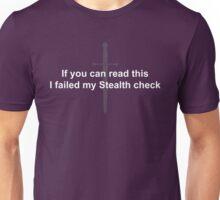 Failed Stealth Check Unisex T-Shirt