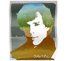 BBC Sherlock Holmes Watercolor Art Poster